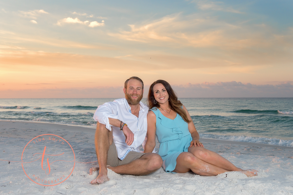 sunrise family beach portraits destin