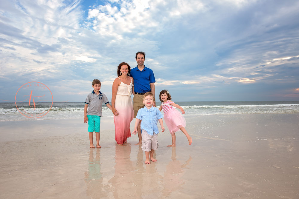 grayton beach photographer family on the beach at sunset