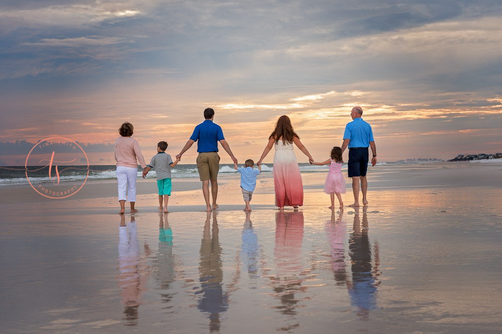 destin sunset family beach photography