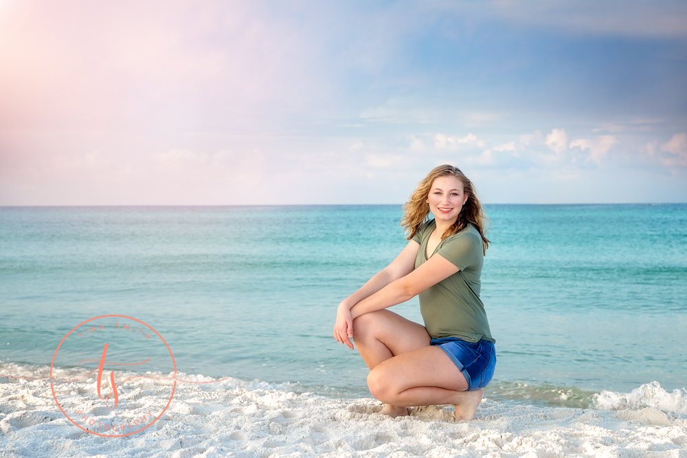 Grayton beach photography senior portraits