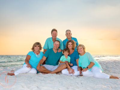 family on beach destin photographer