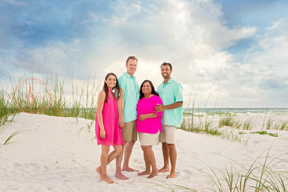 parents with children destin family beach photographer