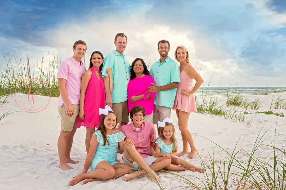 extended family destin family beach photographer