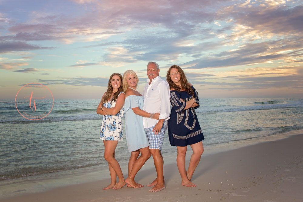 family beach portraits on destin beach