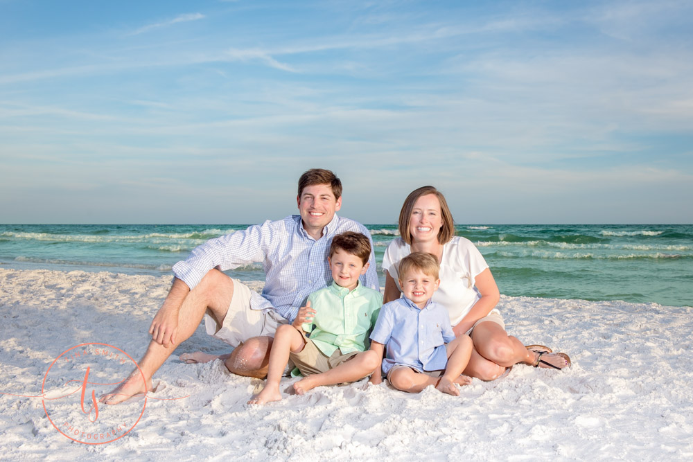 sunset family beach photography