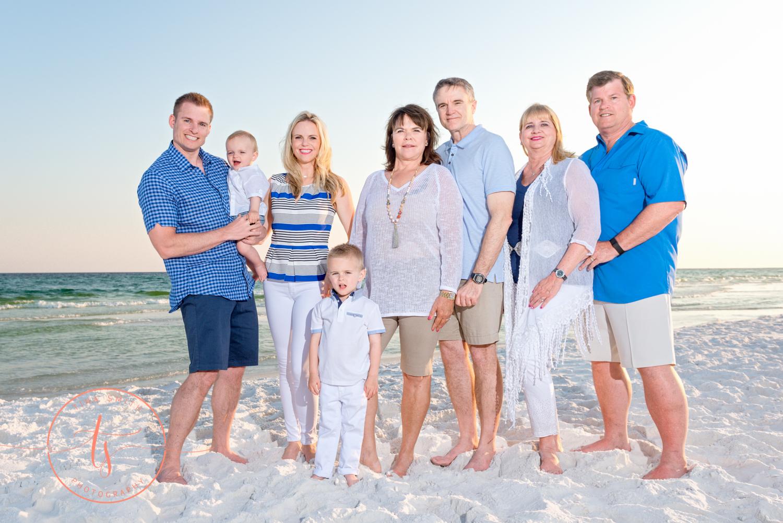 multi family beach session in destin