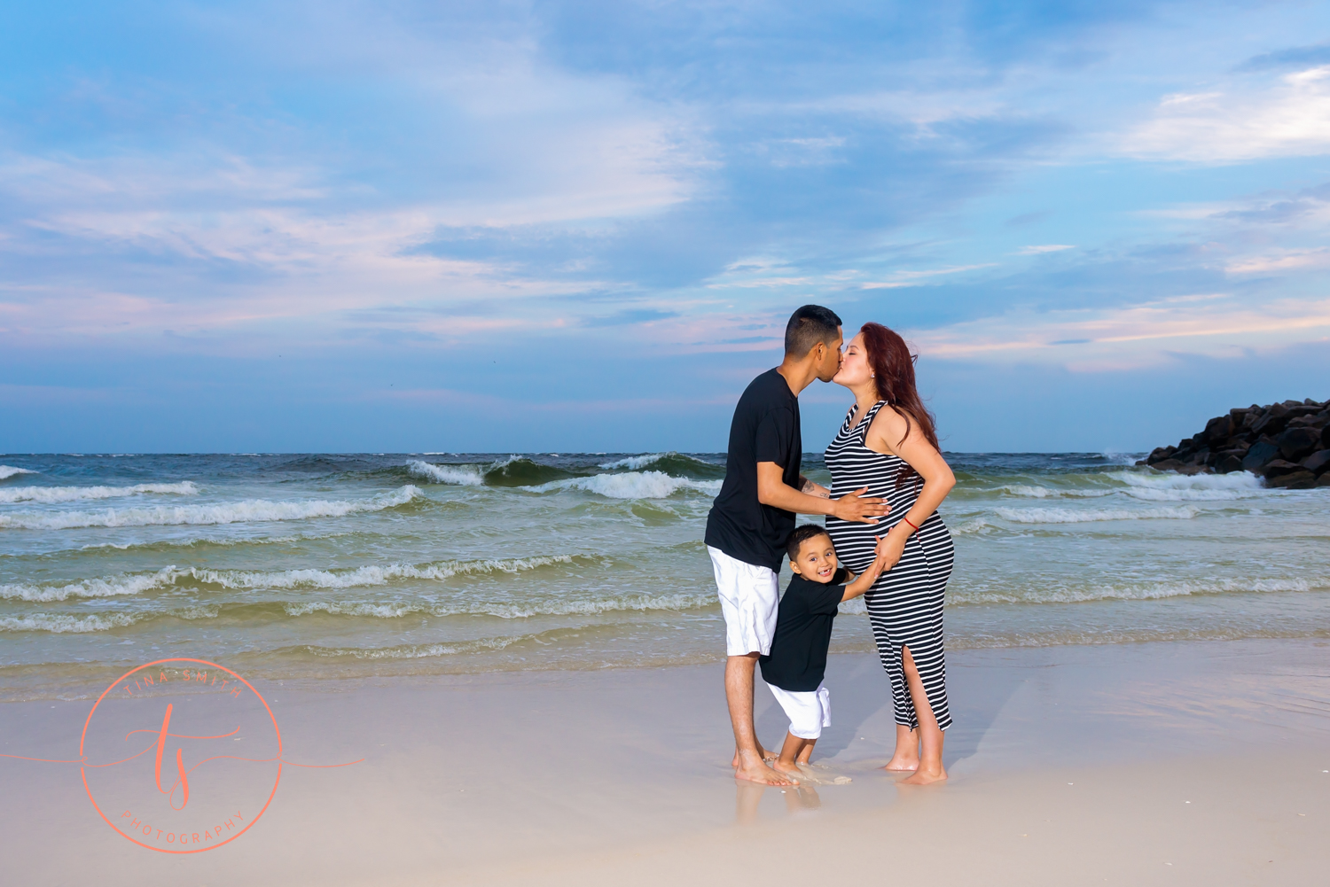 maternity session on beach in destin