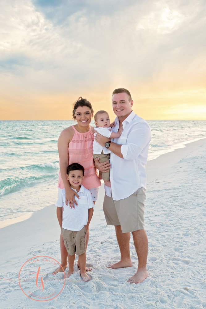 family on beach in destin photographer