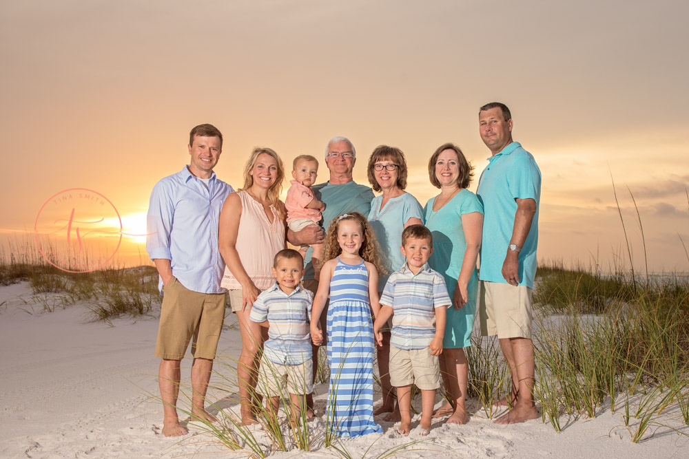destin sunrise family beach photographer