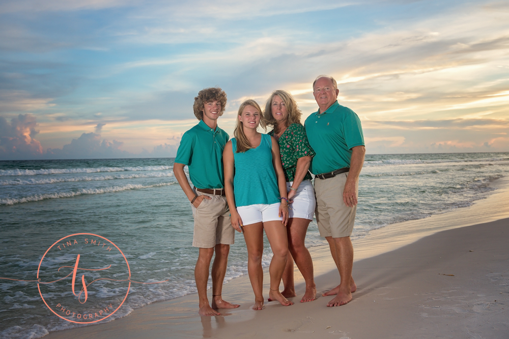 destin senior photographer family beach