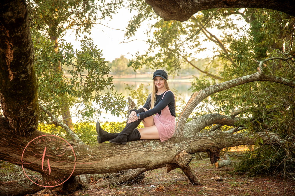 defuniak springs senior portrait photographer s