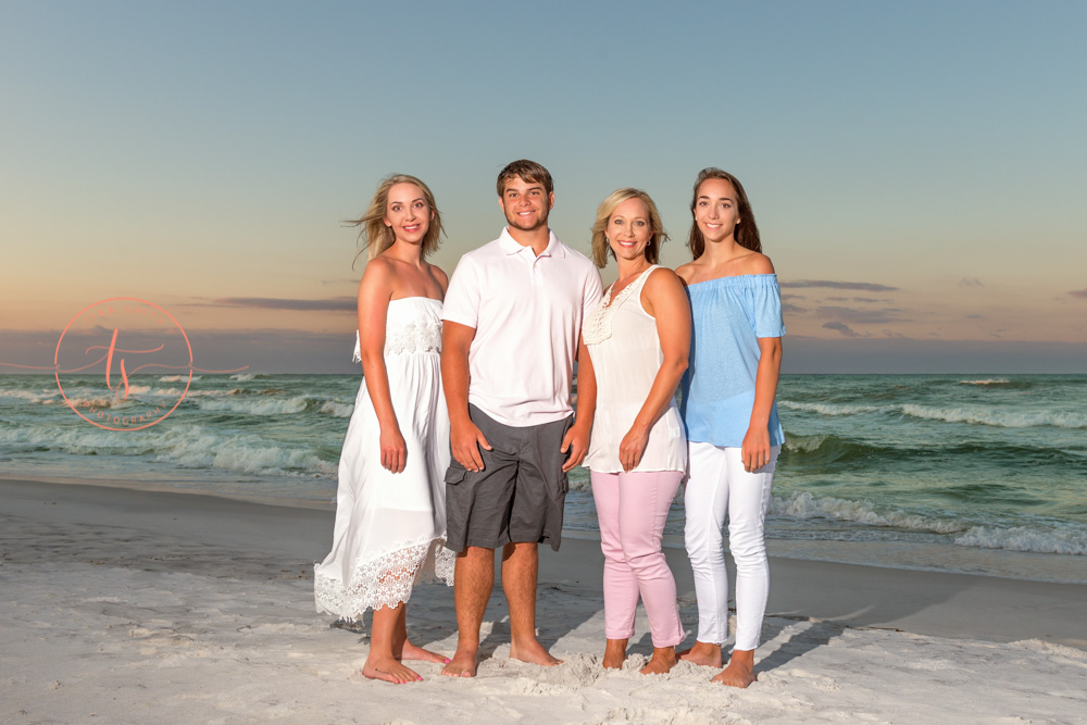 watersound photographer family sunrise beach session